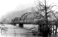 Highway 101 bridge high water 1915 Flood