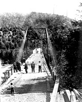Rio Dell Scotia Bridge being built Humboldt County California