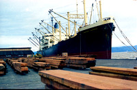 Loading oldgrowth Redwood Beams