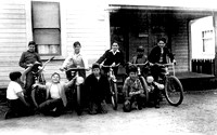 Local Boys showing off their bicycles in Rio Dell California