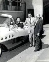 Comedian Jackie Gleason in his new Buick