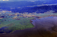 Aerial of Humboldt bay Toward Arcata circa 1982