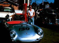 "James Dean and his Porsche 550 Spyder ""Little Bastard """