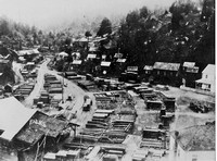 The Town of Falk showing the workers Homes