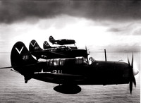 Curtis Hell Divers on Patrol over South Pacific