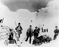 Trail to the Klondike the Chilkoot Pass at the summit in 1898