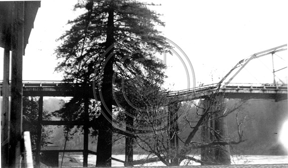 The Rio Dell Scotia Bridge damaged by the Flood Humboldt County California