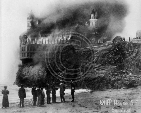 San Francisco Cliff House on Fire