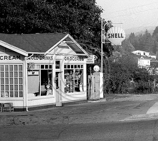 Shell Gas Station located on Main Street Fortuna, California