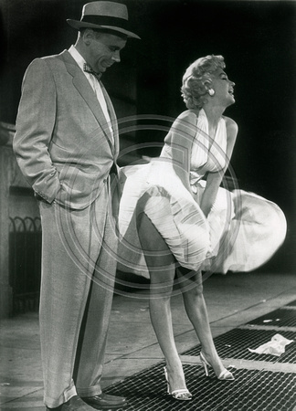 "Marilyn Monroe and Tom Elwell in movie ""The 7 year itch"""