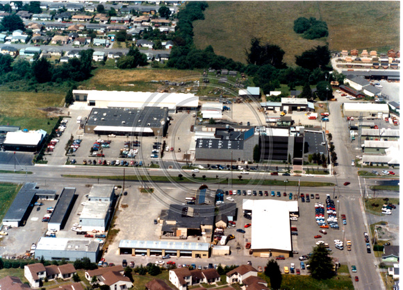 Aerial of Fortuna Blvd. looking at Preston Ctr & Now Ace Hardware