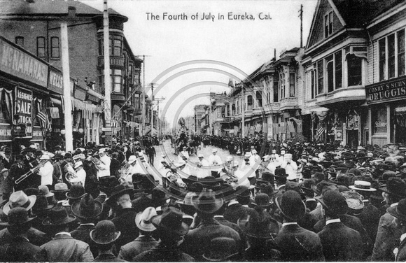 Forth of July Celebration in Old Town Eureka