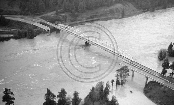Aerical view of the South Scotia Bridge Scotia, California
