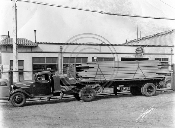 Early SemiTruck in Eureka, CA
