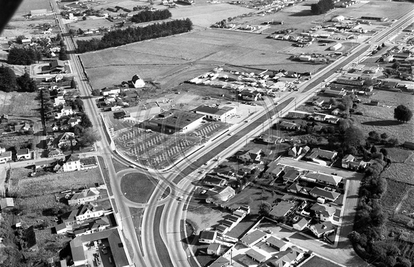 1964 Aerial View of Fortuna Blvd & Rohnerville Rd.