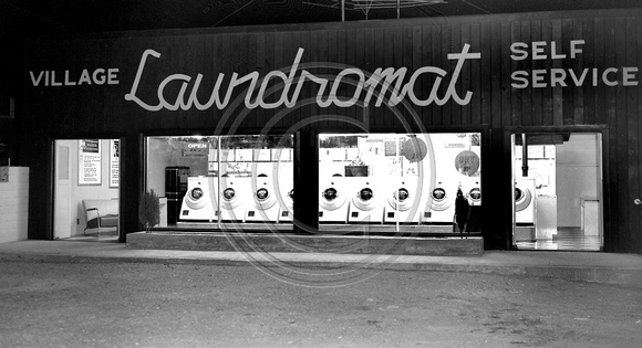Fortuna Village Laundromat Self Service circa 1950's