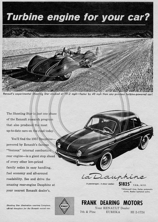 Renault Ad from 1957