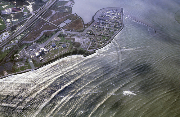 Aerial of king salmon wave patterns 1983
