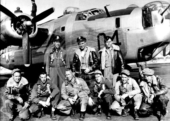 B-24 Liberator Flight Crew Pose for Photographer
