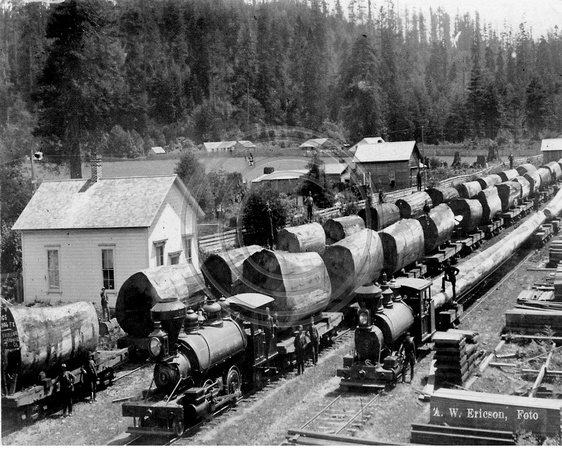 Three Log Load ~ The old photo guy historical logging trains with one