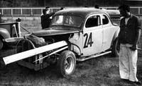 Race cars at Redwood Acres in the 1950s