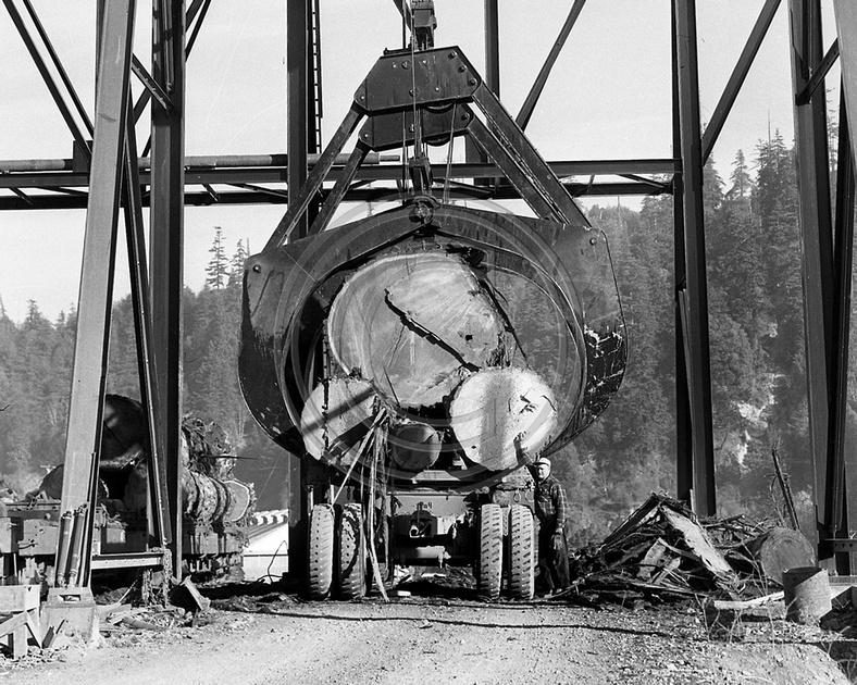 The Old Photo Guy Historical Logging Burger Crane At